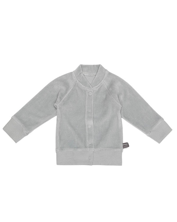 velour cardigan Grey
