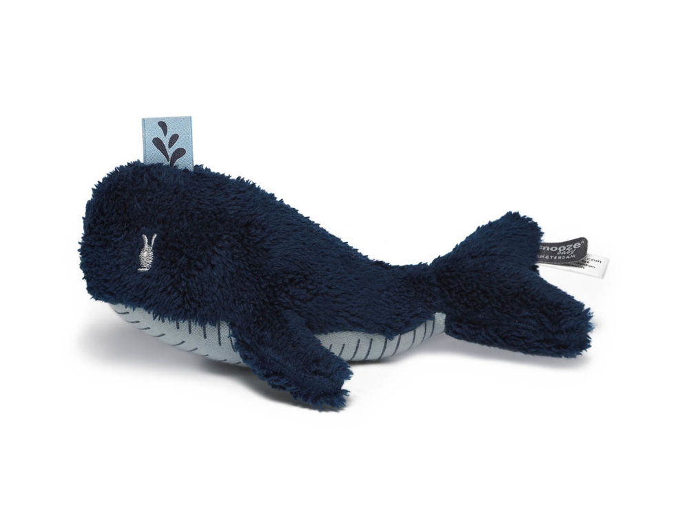 knuffeltje Wally Whale Midnight Blue