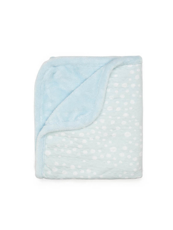 double layer cot blanket Cloudy Blue