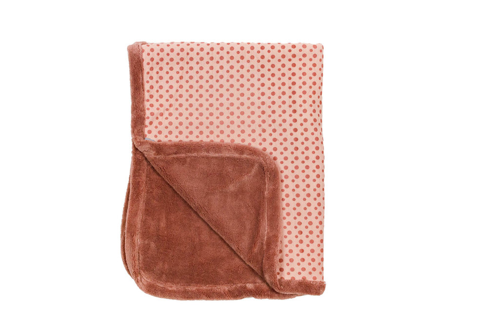 winter cot blanket Dusty Rose