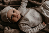 ORGANIC new born cocoon 0-3 months incl hat Warm Brown_