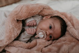 double-layer cot blanket (100x150 cm) Milky Rust_