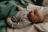 double-layer cot blanket (100x150 cm) Smokey Green_