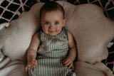 ORGANIC Sleepsuit Sleeveless 3-9 months TOG 1.0 Smokey Green_