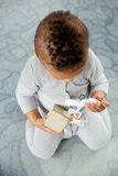 knitted babysuit Grey_
