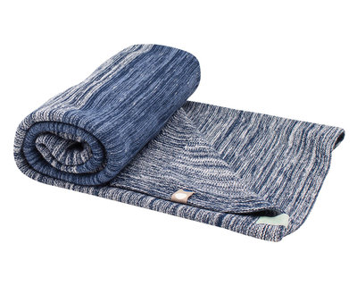 single layer cot blanket Indigo Blue