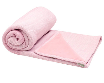 double layer cot blanket Powder Pink