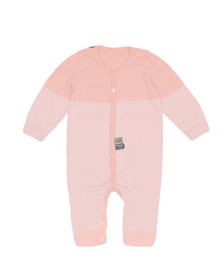knitted babysuit Powder Pink
