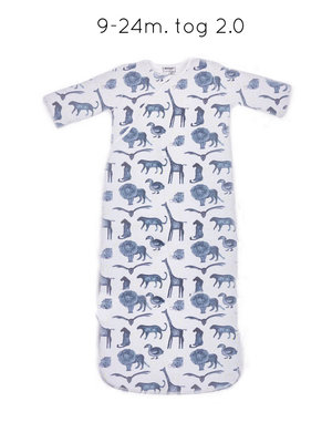 sleepsuit long sleeve Storm Blue