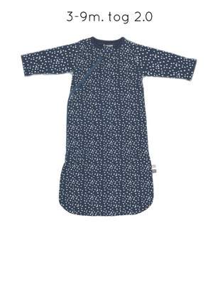 sleepsuit long sleeve indigo stars