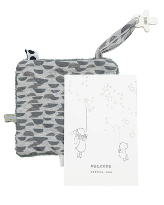 Giftset Star  (birthcard + envelope + gift) Frost Grey
