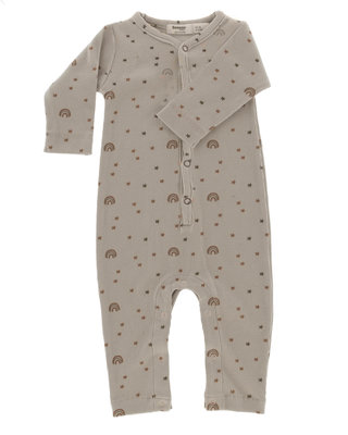 ORGANIC suit rainbow girl 62-68 Milky Rust Rainbow