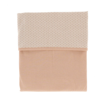 Soft cot blanket (100x150 cm) made of 100% organic cotton. Milky Rust