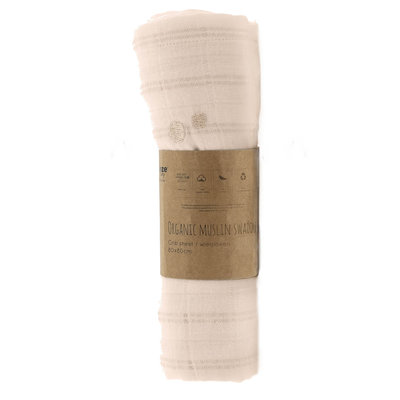 ORGANIC Swaddle cot size 120x120cm Milky Rust