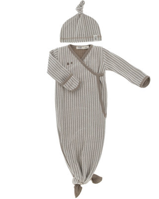 ORGANIC new born cocoon 0-3 months incl hat Warm Brown