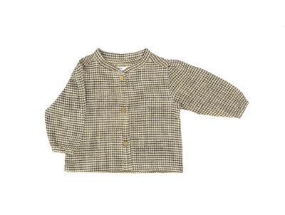 eye-catchy blouse made of organic cotton - colour: Brown square SS22