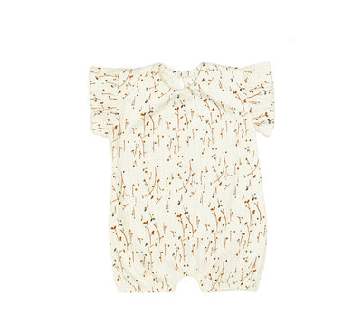 suit without sleeves - colour: Vanilla plants SS22