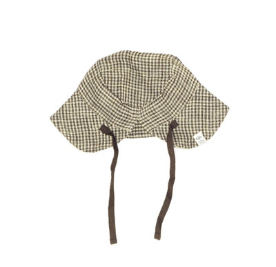 summer hat - colour: Brown square SS22