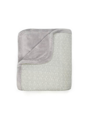double layer crip blanket Lovely Grey
