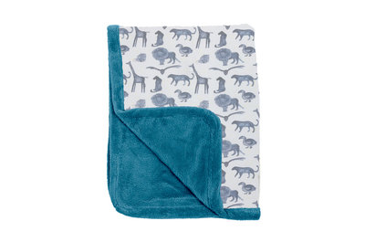 winter cot blanket Storm Blue