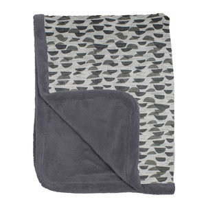 Ultra-soft cot blanket 100x150cm Frost Grey