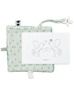 Giftset Bird (birthcard + envelope + gift) Gray Mist