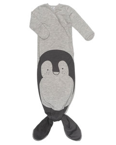 ORGANIC new born cocoon 3-6 months Grey melange Pinguin