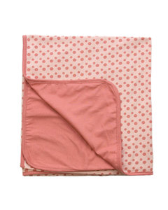 summer crib blanket Dusty Rose